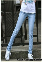 2014 hot sale summer new women pants light-colored jeans stretch pants sexy Slim pencil long pants 801