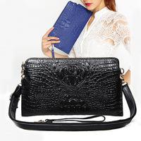 Genuine Leather Women Clutch Fashion Women Leather Handbags Alligator Embossed Crocodile Women Leather Shoulder Bags HB-139