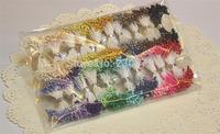 DF005 wholesale 3mm Double tips Multicolor DIY pearl flower stamen choose 48 colors (1800pcs enough QTY)