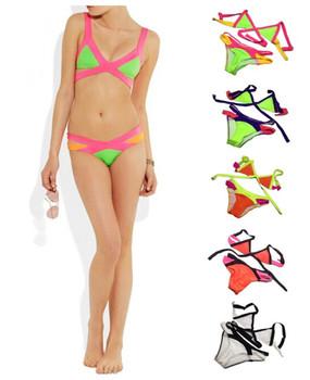 2014 горячих сексуальные женщины повязки бюстгальтер мягкий бикини купальники для женщин холтер купальник новое купальник размер S / M / L 5 Color