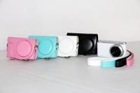 Leather camera case bag cover protector guard for Samsung nx mini nxmini nxf1  + Free shipping