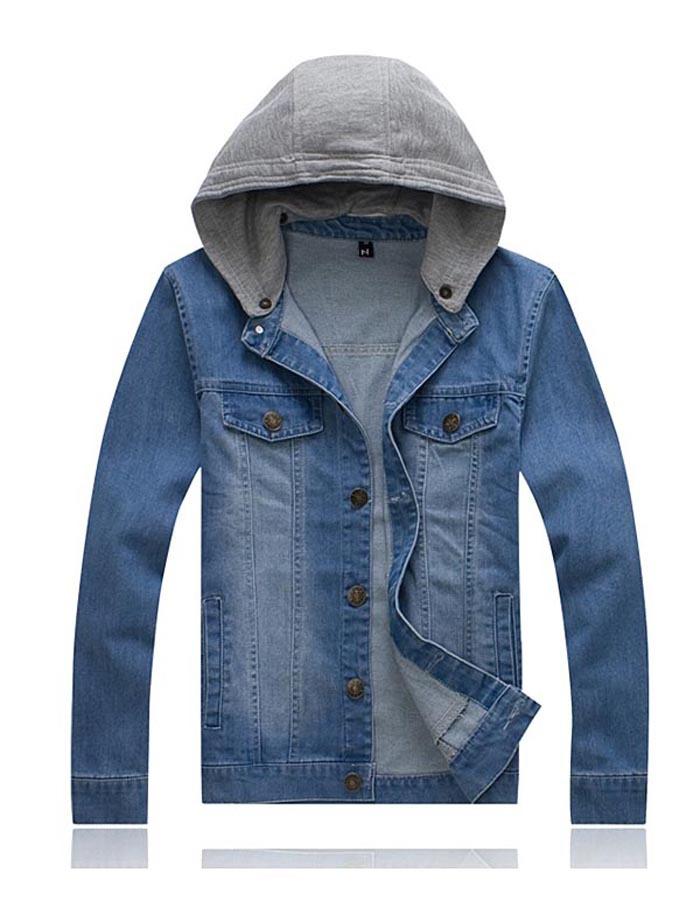 Cap Blues Jacket Removable Cap Man's Jacket For