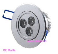 CE,good quality 3W LED Downlight,110-250VAC with LED driver,DS-CSL-19,3X1W,Warmwhite,white,