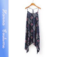 New arrival 2014 summer sexy printed women strap dresses sleeveless woman chiffon dress vestido