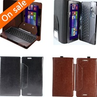 Leather Keyboard Portfolio Case Stand Cover For Asus Transformer Book T100 T100TA