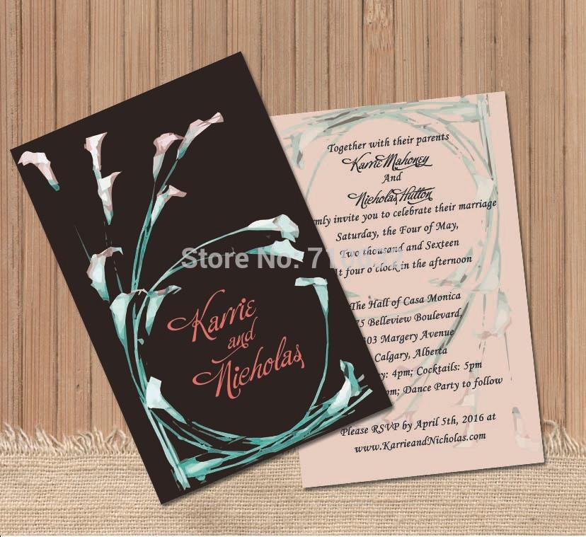 Custom Wedding Invitations Make Your Own Wedding Card Calla Invitation DIY We