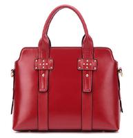 Brand Designer Women Handbags European and American Fashion Soft Leather Rivet Shoulder Bags Ladies All-match Messenger Bags