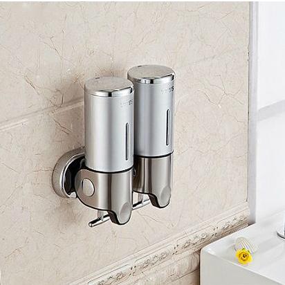 S1000ml S/S 304+plastic Banheiro Lotion Dispenser,Home Washroom Wall Mounted Soap Sanitizer Bathroom Shower Shampoo Dispenser(China (Mainland))