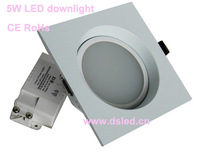 CE,good quality Square 5W LED SMD Downlight,110-250VAC with LED driver,DS-CSL-94,3Inch,Warmwhite,white,