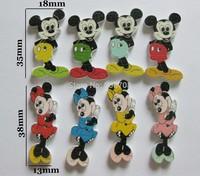 Randomly Mixed Wooden Cartoon Mickey Buttons 2 Patterns 120PCS/LOT DIY Sewing Scrapbooking Crafts W0151
