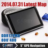 2014 NEW ! 5 inch GPS navigation MTK cortex A7 800MHZ 4GB DDR128MB HD 800*480  car gps navigator russian  vehicle gps GPS500201