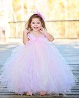 Blush mix Ivory Flower Girl Wedding Dress Floor-Length Girl Tutu Dress For Party Kids Girl Dress For Evening Birthday Halloween