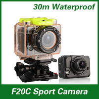 High Quality Sport Waterproof Video Camera F20 GOPRO style Full HD1080P+Waterproof 135 Degree View Angle Action camera(SC-14)