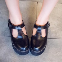 2014 Summer students shoes round head with Buckle small slope with shallow mouth single shoes women pumps ttx126