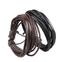 1pc/lot, Leather Bracelet Mens Wrap Multilayer Bracelet & Bangles One Direction Jewelry Horse Bracelet, Pulseira Masculina Couro
