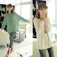 2014 New Korean women bat shirt sweater coat sweater hollow women sweater blusas de inverno crochet