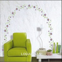 50*70Free Shipping 1Pcs Beautiful Blossming Purple Flower Creative Beadroom Living Room Decoration Removable PVC Wall Sticker