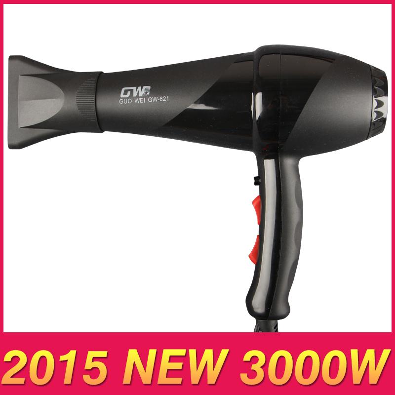 3000W AC Motor NEW 2015 Low Noise Electric Handle Hair Dryer Black Professional Blow Dryer Bathroom Salon Equipment 220V(China (Mainland))
