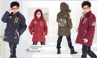 New 2014 winter coat medium-long down clothing child casual boys kids down coat outerwear teenage boy fashion jacket size 12-16