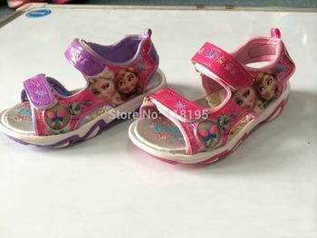 Детские и девушки сандалии детская летняя мультфильм принцесса тапочки главная обувь дети pu обувь