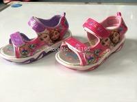 Baby&girls sandals children's summer cartoon princess slippers home shoes kids pu shoes
