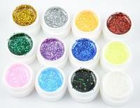 12 Color Hexagon Sheet UV Builder Gel  Builder Polish Set Tips nail tools gel for nail art FREE SHIPPING