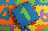10Pcs/Lot 30*30cm Baby Play Puzzle Mats 0-9 Digital Pattern Tapete Para Bebe Green Air Eva Carpet For Baby Tapete Infantile