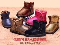 New boy girl autumn winter boots children fall of snow boots boots and plush  children's boots