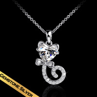 Special S925 Silver Chic Style Fox Pendant Necklace Free Shipping Women Choker Necklace XL14A070910