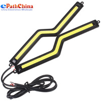 Z-shaped 6W 48 x LED Daytime Running Waterproof Car Strip Light Lamp For Riding or Parking in Foggy Days