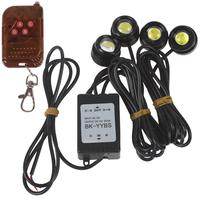 One to Four 4 x 1.5W Strobe Flash Eagle Eye LEDs LED Car Light Car LED Light with Wireless Remote