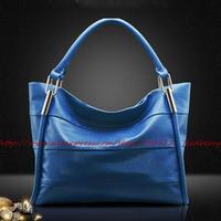 2015 Genuine Leather Women Handbag Shoulder Bag High Quality Brand Design Tote Shoulder Bag Cowhide Women Leather Handbag Bolsas