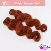 #30 Medium Auburn Color Brazilian Virgin Human Hair Weave Body Wave Weaving Extension 3pcs/lot and 4 pcs/lot