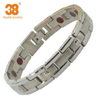 Women Fashion Adjustable Magnetic Health Titanium Bracelet 11 mm