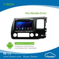 Dual-Core Cortex A9 1.6GHz Android 4.2 Car DVD For Honda Civic 2006-2011 With Capacitive Screen Built-in WiFi Support OBD 3G
