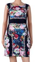 2015 spring and summer women's new arrival gorgeous elegant flower print slim plus size tank dress one-piece dress