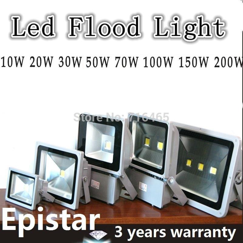 10W 20W 30W 50W 100W 120W 150W 200W led flood light Bridge Lamps 85-265V Waterproof IP65 LED Street Light 3 Years Warranty(China (Mainland))