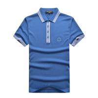 Billionaire italian couture men's clothing t-shirt short-sleeve 2014 silk straight plus size t