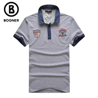 Bogn r men's clothing t-shirt summer short-sleeve 2014 turn-down collar business casual purchasing agent of special counter