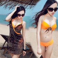 2014 New  3pcs triangle bikini  Sexy women swimsuit beach wear