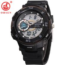 Hombres muchacho relojes grandes del Dial LED Digital reloj militar pantalla analógica alarma cronógrafo cuarzo reloj Relogio Masculino