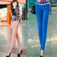 2014 Spring Autumn new Korean version thin chiffon trousers ol female feet pencil pants casual pants candy lady