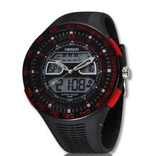 2014 nueva hombres deportes Casual Watch relojes de hora Dual análogo Digital de cuarzo multifunción electrónica de buceo LED reloj militar