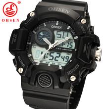 Nueva marca Casual hombres Diver deporte multifuncional ver 2 zona de tiempo Digital de moda analógica reloj del cuarzo LED relojes militares