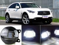 eCityBuy Infiniti QX70 Q70L Fog Lights LED Guide Daytime Running Lights -2PCS