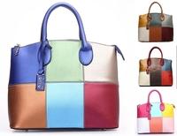 4 color Promotion 2014 Women PU/genuine Leather Handbags should bag female Charming totes Fashion Designe messenger bags