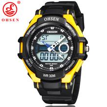 Hombres mujeres militar relojes deportivos 2 zona horaria analógico Digital LED cuarzo alarma fecha día cronógrafo reloj de buceo de natación 6 colores