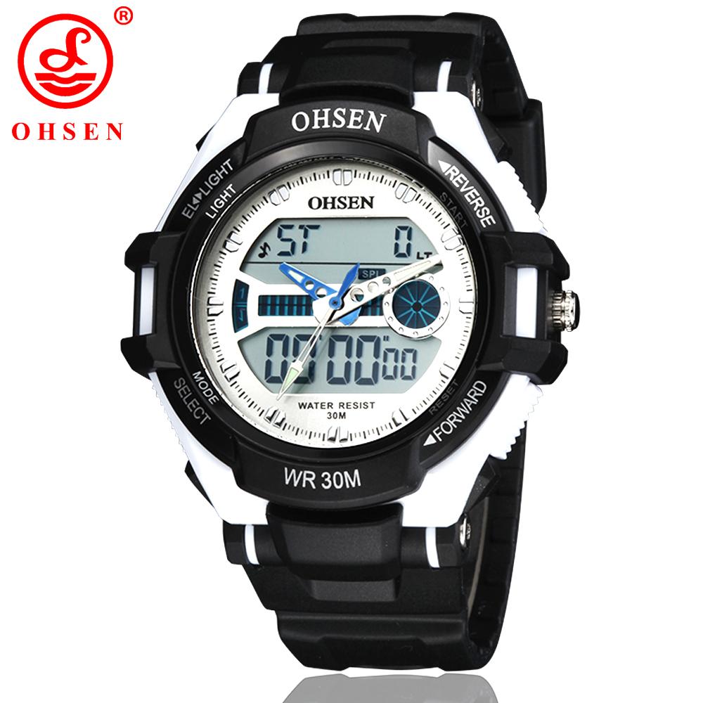 New Men Women Multifunctional Sport Watch Outdoor Quartz LED Digital Unisex Casual Dress Watches Waterproof Military