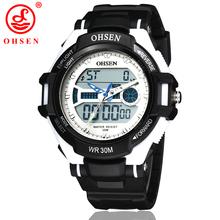 Nueva hombres mujeres multifuncional reloj deportivo exterior cuarzo LED Digital Unisex informal vestido impermeable de los relojes reloj militar