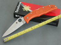 Hot sale ! OEM Spyderco C10PGRE ZDP-189 Blade Pocket knife Survival knives Camping  tools Hunting Knife Free Shipping